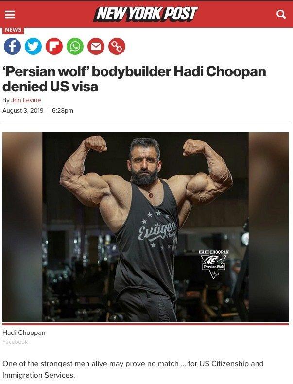 Hadi Choopan's visa