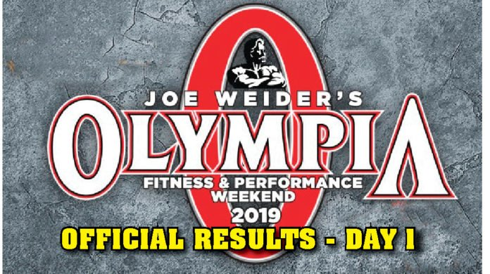 OFFICIAL RESULTS: 2019 Olympia Weekend - Day 1