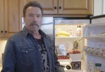Arnold Schwarzenegger fridge health