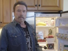Arnold Schwarzenegger fridge health