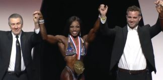 Cydney Gillon wins olympia figure