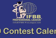 2020 Professional League Contest Schedule ifbb