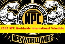 2020 NPC Worldwide Schedule