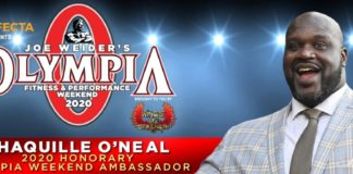 Shaquille O'Neil Named 2020 Olympia Honorary Ambassador