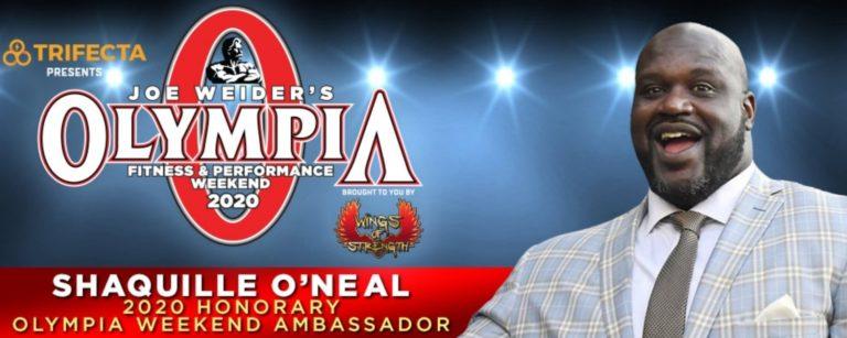 Shaquille O'Neil Named 2020 Olympia Honorary Ambassador
