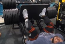 Big Ramy's 1700lbs leg press - 8 weeks out