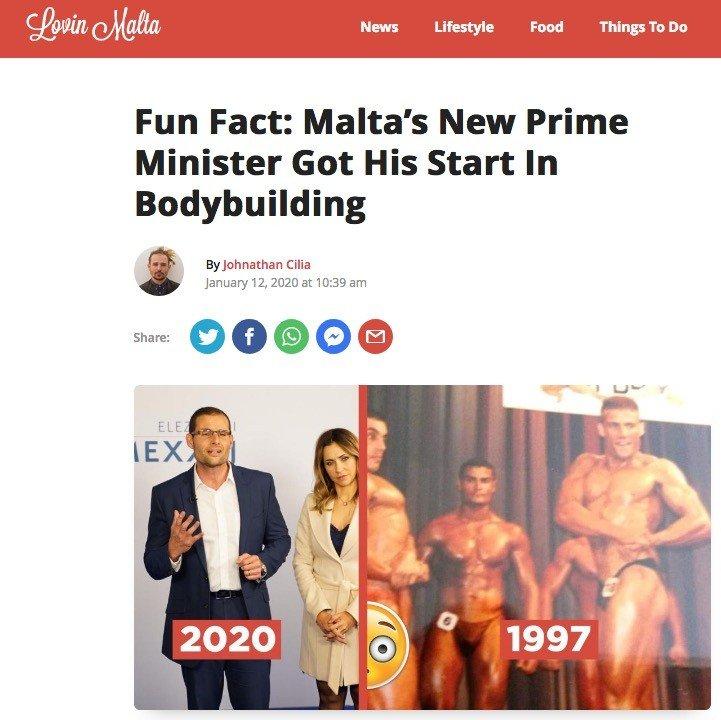 Robert Abela - From Bodybuilding to Malta's new Prime Minister