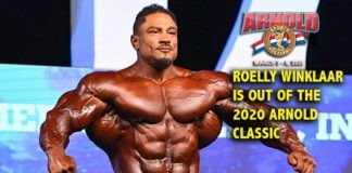 Roelly Winklaar is out of the 2020 Arnold Classic USA