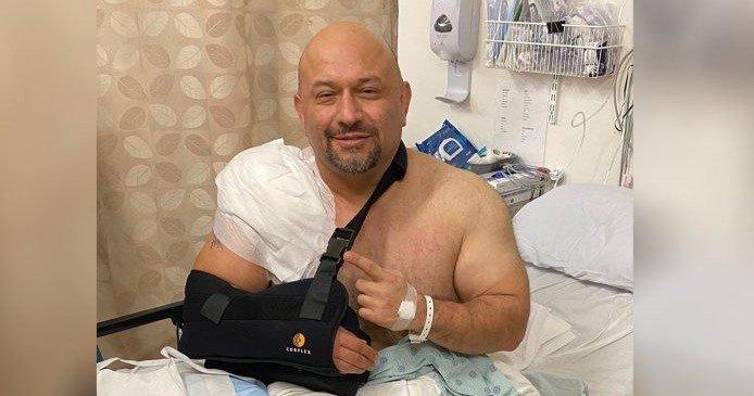 Trainer of champions Hany Rambod in major car crash