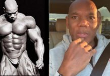 Flex Wheeler reveals open wound leg surgery