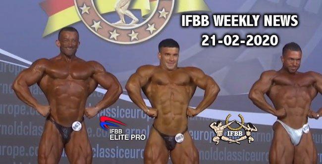 WATCH: IFBB Weekly News 21-02-2020