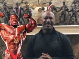 Lee Haney congratulates Jake Wood purchasing Olympia brand