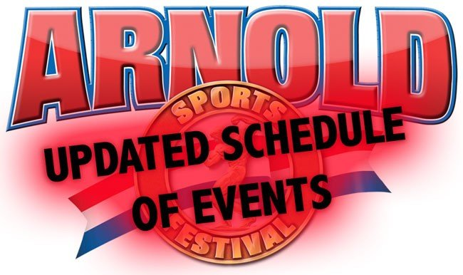IMPORTANT UPDATE: Official Arnold Classic Event Schedule