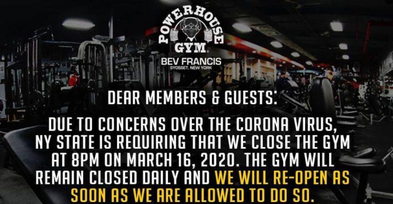 Coronavirus (Covid-19) continues to cripple the bodybuilding world