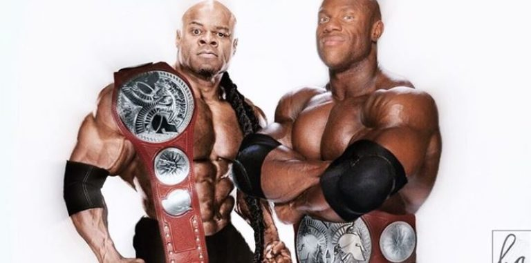 Imagine Phil Heath and Kai Greene as WWE Tag Team Champions