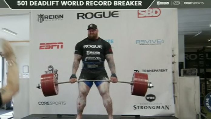 Hafthor Bjornsson deadlift record