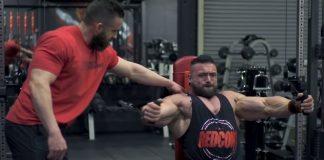 Luke Sandoe trains chest