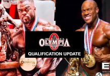 2020 Olympia Qualification List