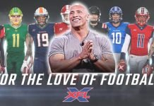 dwayne johnson xfl redbird