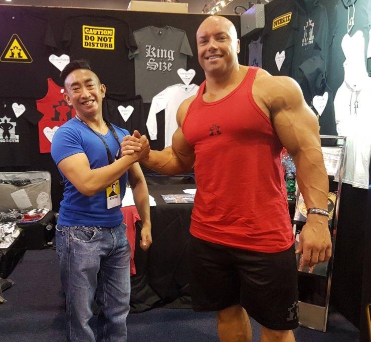 Vance and Professional Bodybuilder Josh Lenartowicz