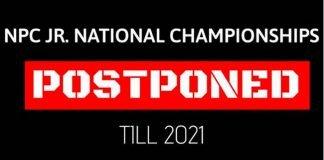 npc junior national postponed