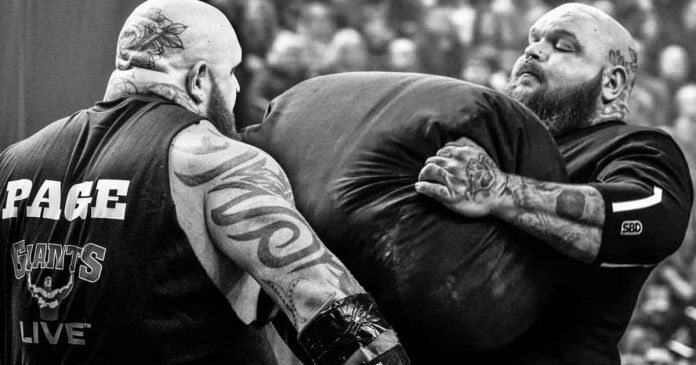Strongman Aaron Page dies