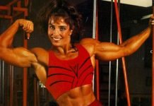 Female bodybuilder Laura Bass