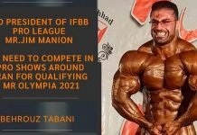 Iranian bodybuilders Jim Manion
